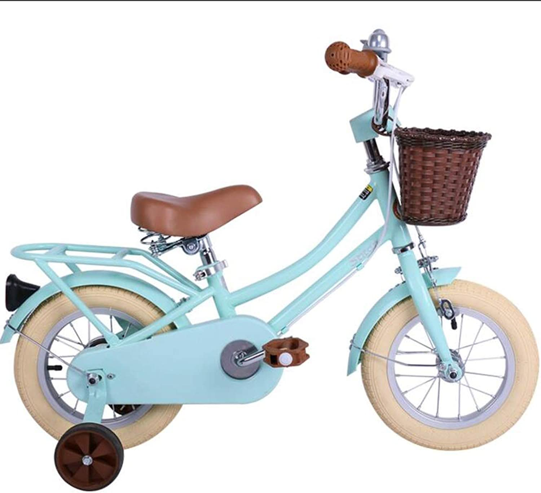 entrega gratis Axdwfd Infantiles Bicicletas Bicicletas para Niños, Bicicletas para Niños con con con Rueda de Entrenamiento Ciclismo para Niños y niñas de 12 Pulgadas, Adecuado para Niños Aged2-4Mint verde  Compra calidad 100% autentica