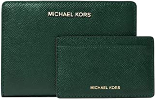 9381e1754b79 Michael Kors Medium Saffiano Leather Slim Wallet in Racing Green