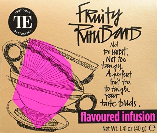TE - Teahouse Exclusives Everyday Tea Fruity Rhubarb 16 Beutel, 2er Pack (2 x 40 g)