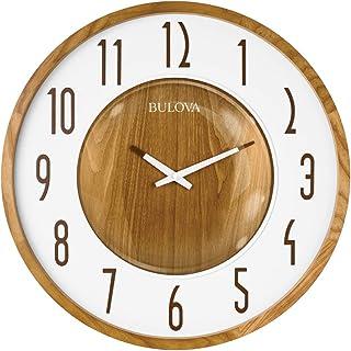 Bulova C4872 Broadway Wall Clock, Zebrawood
