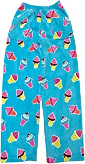 iscream Big Girls Premium Plush Fleece Pants - Summer Fun Collection