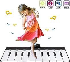 Babyhelen Alfombrilla de Piano Musical, Alfombrilla de Juego de 19 Teclas de Piano con 8 Modos, Pianos Instrumento Musical Teclado de Juego táctil para niños 3 baterías AA no Incluidas (110 * 36 cm)