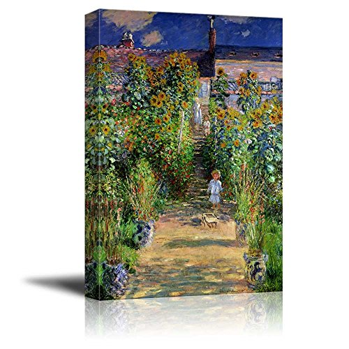 wall26 - The Artist's Garden at Vetheuil by Claude Monet - Canvas Print Wall
