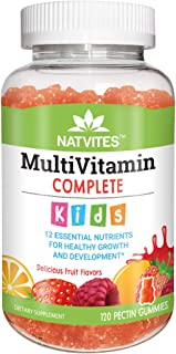 Natvites Multivitamin & Multimineral Pectin Gummies for Kids, 120Count