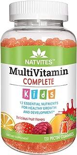 Natvites Multivitamin & Multimineral Pectin Gummies for Kids, 120Count