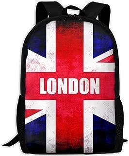 London Uk Flag Print Custom Casual School Bag Backpack Multipurpose Travel Daypack