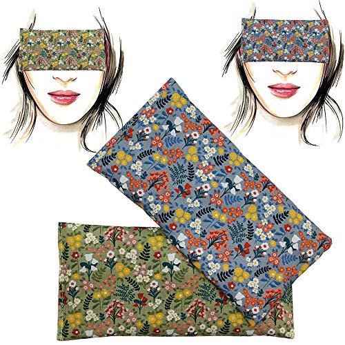 Almohada para los ojos 'Pack-2 champs' | Semillas de Lavanda y arroz | Yoga, Meditación, Relajación, descanso de ojos...