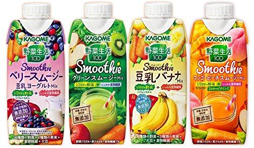 カゴメ スムージー野菜生活100 330ml 4種類各6本 24本入り (商品は新発売の商品などは入り写真と異なります
