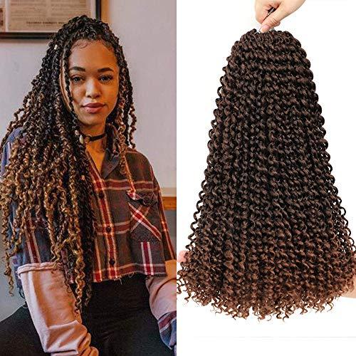WIGENIUS 8Pcs Passion Twist Hair 18 pollici Ombre Blonde Long Bohemian Braids for Passion Twist Crochet Intrecciare i capelli Fibra sintetica Estensione naturale dei capelli (18'T30)