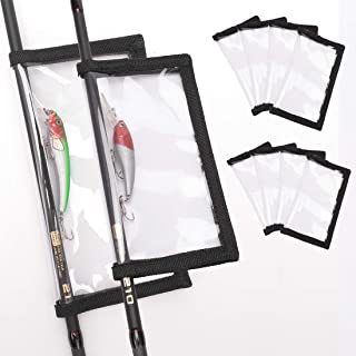 HomDeak Fishing Lure Wraps 10 Packs Durable Clear PVC Lure Covers Keeps Fishing Safe Easily See Lures Fishing Hook Covers ...