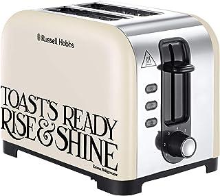 Russell Hobbs 23538 Emma Bridgewater Toaster, Black Toast 2 Slice Toast and Marmalade, 850 W