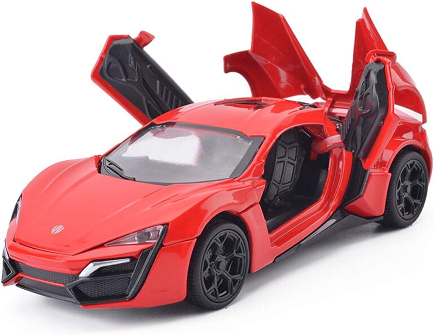 ZHPRZD Car Model 1 32 Simulation Car Model Alloy Die-Casting Sports Car Toy Ornaments Collection Jewelry 15.2x6.6x4CM Model (color   Red)