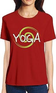 Pooplu Womens Yoga Cotton Printed Round Neck Half Sleeves Multicolour t.Shirt. Exercise & Gym t Shirt
