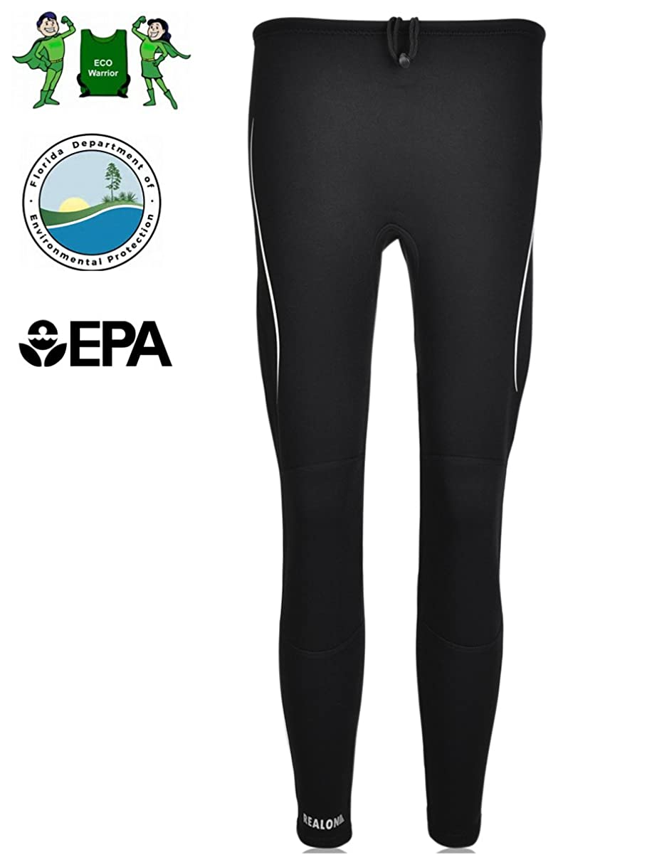 Realon Swim Tights Wetsuit Pants Men and Women's 3mm Neoprene Outdoor Recreation UV Suit Leggings Girls Water Sports XSPAN Surfing Scuba Diving Snorkeling Canoeing Stand