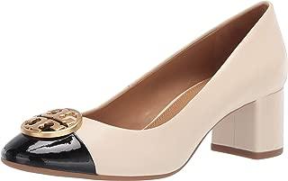 Tory Burch Women's Color Block New Cream Black Chelsea Pumps Shoes