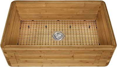 MR Direct 894 Bamboo Apron Kitchen, Sink Only