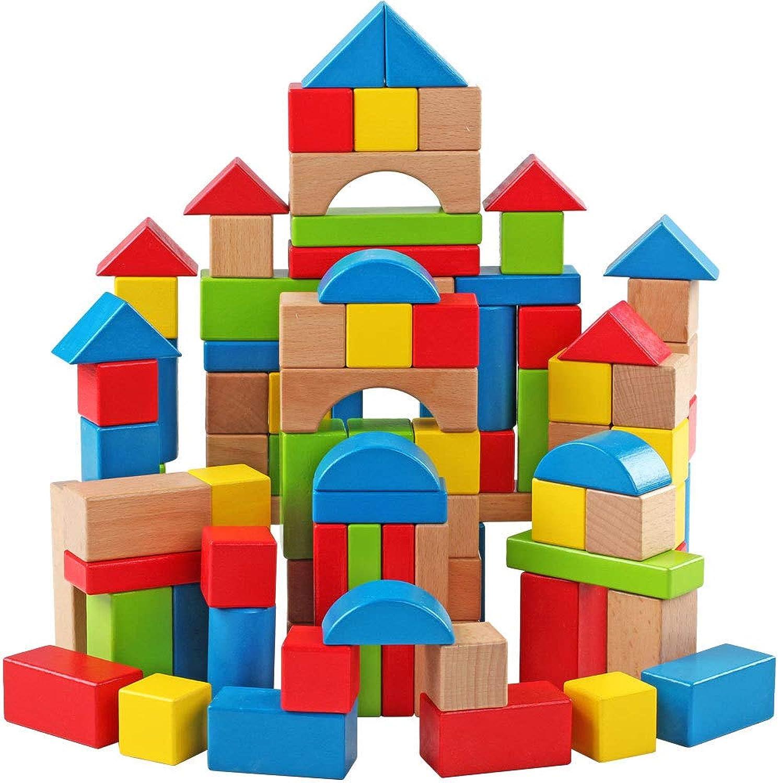 GKPLY 100 Stücke Regenbogenblöcke - frühkindliche Puzzlespielstapel der hölzernen Kinder der Kinder bastelt B07KVDJJHV  Vorzugspreis    | Sorgfältig ausgewählte Materialien