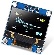 """Dorhea 0.96 inch OLED i2c Display Module IIC Serial LCD Screen 0.96"""" LED Module Display Yellow Blue 12864 OLED /3.3V-5V 12..."""