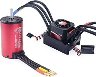 Xiangtat Hobby RC Waterproof 150A ESC Power Combo with 4068 2050KV Brushless Motor for 1/8 RC Car (150A 4068 2050KV Combo)