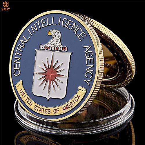 CIA Crest Central Intelligence Agency Challenge Medaille Münze USA Sammlerstück Emaille von Panda Loco