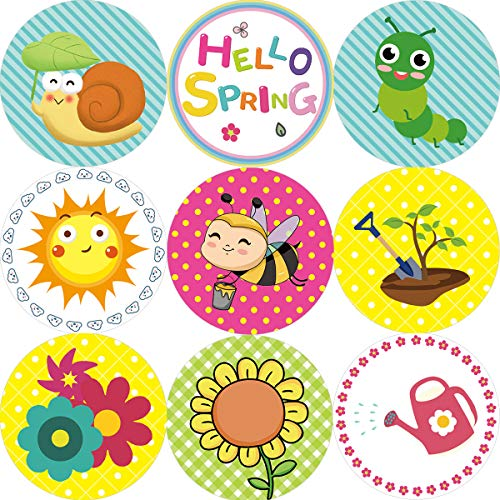 Spring Stickers for Kids 200Pcs Perforated Roll Sticker Prize Reward for Easter Family School Party Favor