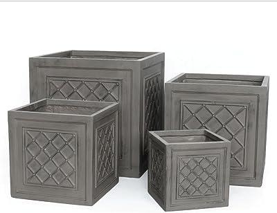 Porch & Petal Fibreclay Windsor Boxes, Set of 4