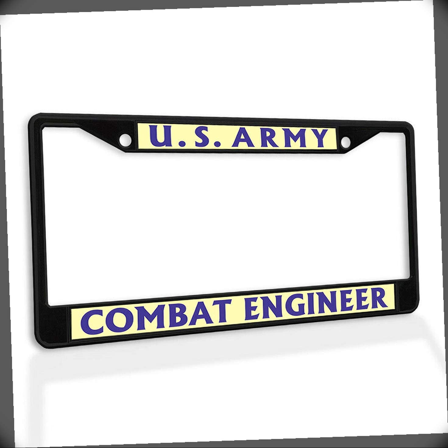 New License Plate Frame U.S. Army Car Metal Engineer Free 100% quality warranty! Shipping Combat Inse