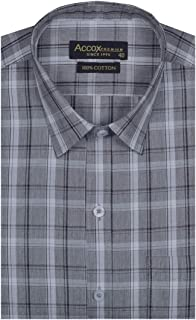 ACCOX Checkered Winter Wear Long Sleeves Regular Fit Formal Cotton Shirt for Men