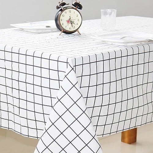 Nappes en Lin Rectangulaires, Nappe Style Simple Tache anti-poussière Nappe de table décorative, intérieur et extérieur (MultiCouleure) (Couleur   D, taille   140  240CM)
