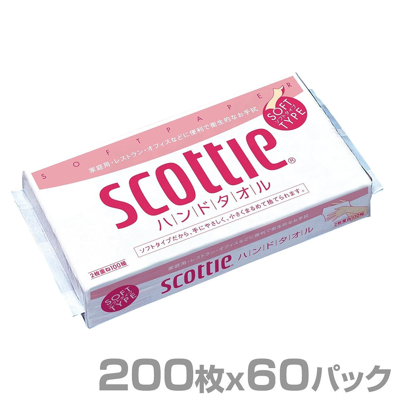 所得花弁ランク日本製紙クレシア スコッティ ハンドタオル 200枚(100組)×60パック 37745