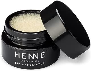 Henné Organics Lip Exfoliator Scrub - Organic Sugar Scrubs for Lips LAVENDER MINT