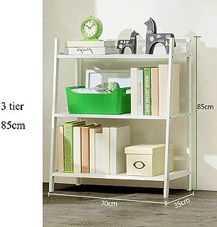 Estante para libros YNN 3/4/5 Nivel bambú Estantería de baño Estanterías de Almacenamiento Estanterías Estantería para Zapatos (Color : Blanco, Tamaño : 3 Tier)