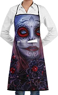 Halloween Girl All Saints Gothic Eyes Witch Mystery BBQ Waiter Housekeeper Pet Grooming Bartender Kitchen Beautician Hairstylist Nail Salon Carpenter Shoeing Wood Painting Artist Pocket Apron