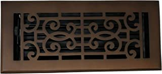 Madelyn Carter Baroque Floor and Wall Registers - Oil Rubbed Bronze (Cast Brass Core) 4