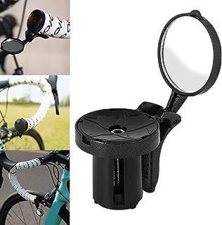 Zerama Bicicleta de Ciclo del Manillar Fin Espejo retrovisor Universal de Cristal reflexivo de la Seguridad Ajustable Bicicletas Vista Posterior Espejo