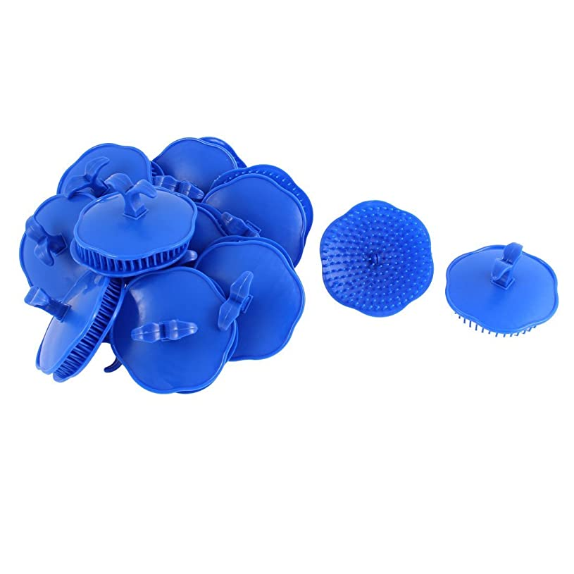 奨励しますオリエントスパイuxcell シャンプーブラシ 洗髪櫛 マッサージャー プラスチック ダークブルー 20個