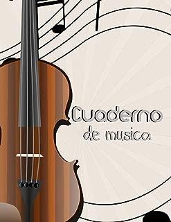 Cuaderno de Musica: Libreta de Pentagrama Pautado para Notas de Musica para Violin, A4 8.5 x 11 in (Spanish Edition)