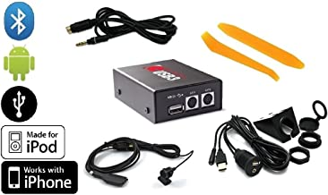 Grom NIS02U3 USB Android iPod iPhone interface PLUS Bluetooth Phone/Music BTD kit PLUS Grom 35MDN aux audio cable PLUS dash-mount USB/Aux extension cable PLUS dash trim removal tools. For Nissan/Infiniti radios. (Bundle: 5 items)