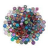 Healifty 200 unids Mosaico Imagen de Cristal Impresa Media cúpula cabujones Azulejos para la joyería Que Hace 14mm