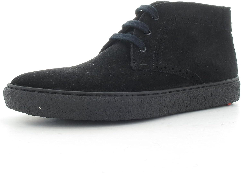LLOYD 27-544-20 Burdan schwarz - Fashion-SchnürStiefel - Velourleder - Gummisohle
