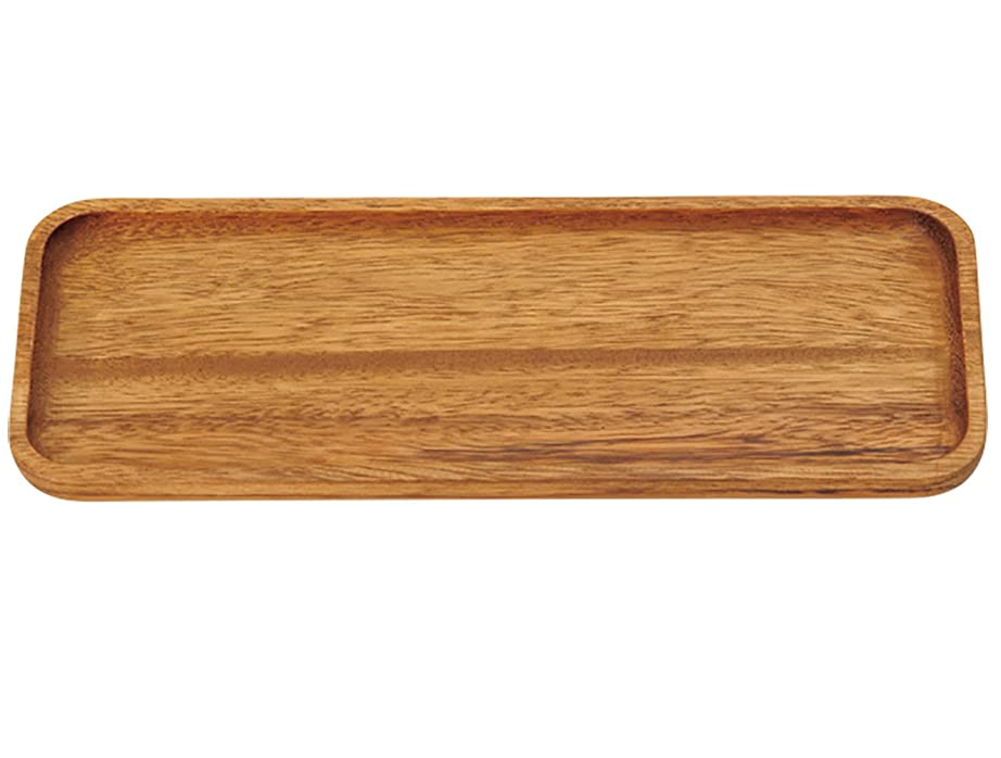 アジア降雨ビバ萬洋 天然素材 アカシア マルチトレイ L 30×12cm 32435L