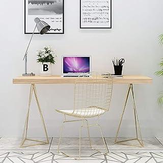 CDTO Madera Sólida Moderno Nordic Mesa De Oficina Minimalista Mesa De Ordenador con Pierna del Metal Simple Escritorio pa...