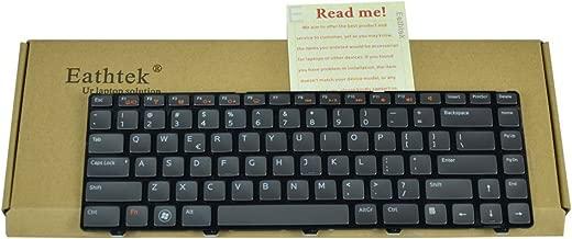 Eathtek Replacement Keyboard with Backlit for Dell Inspiron N4110 N411Z M4040 M4110 N4050 N4110 14R 3420 15 3520 5420 7420 XPS L502X X501L X502L Vostro V131 1540 2520 0X38K3 series Black US Layout