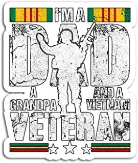 Hand Wooden Customizable Sticker A Grandpa and Vietnam Veteran Stickers for Personalize (3 pcs/Pack)