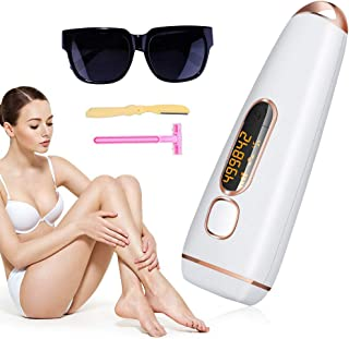 IPL Hair Removal for Women - 2019 Newest Permanent Facial Body Hair Remover System - 500,000 Flashes Painless ProfessionalEpilator - 5 Levels of Light Energy ElectricRemoval