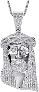 Gioielli Moca Iced out USD Pendenti Portamonete Collana placcata in Oro 18 carati con Diamante simulato Bling CZ per Uomo ...