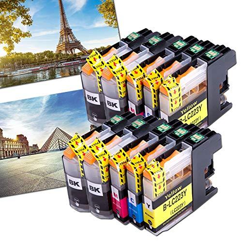 OGOUGUAN 10 LC223 - Cartuchos de tinta compatibles con Brother DCP-J562DW MFC-J4120DW J5320DW J880DW J5620DW J5625DW J680DW J4625DW J5720DW J4420DW J4620DW J480DW