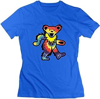 Rock Grateful Dead Dancing Bear T-Shirt for Women RoyalBlue M