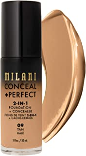 Milani Conceal + Perfect 2-in-1 Foundation + Concealer - Tan (1 Fl. Oz.) Cruelty-Free Liquid Foundation - Cover Under-Eye Circles, Blemishes & Skin Discoloration for a Flawless Complexion