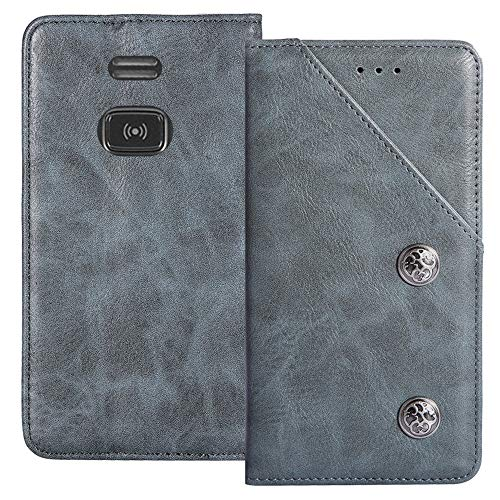 YLYT Flip Blue Schutz Hülle Hülle Für Doro PhoneEasy 508 X Etui Leder Tasche Handyhülle Hochwertiges Stoßfeste Kartenfach Cover